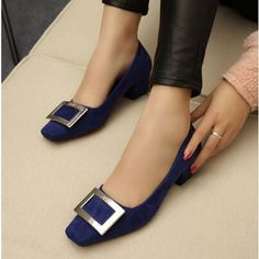 Slip On Pumps, Women's Pumps, Cute Shoes, Me Too Shoes, Plus Size Womens Shoes, Shoe Boots, Shoes Sandals, Thick Heels, Beautiful Shoes