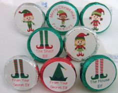 School santa kisses bag toppers quot funky quot just as hershey kisses for