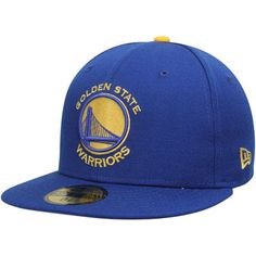 ec61a12f224c41 Men's New Era Royal Golden State Warriors Current Logo 59FIFTY Fitted Hat