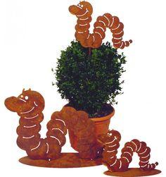 Edelrost Schnecke Stanley 15 cm auf Bodenplatte Gartendekoration Terrasse