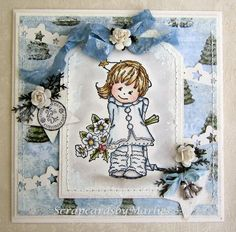 Scrapcards by Marlies: LWF Scarf in het blauw