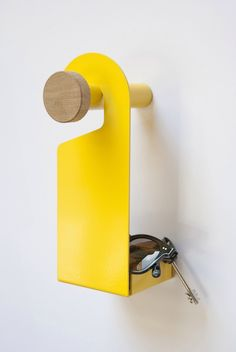 Do Not Disturb set, wall hangar and valet tray, design by Interior Styling, Interior Decorating, Interior Design, Fun Hobbies, Donkey Kong, Wall Hanger, Thesis, Industrial Design, Furniture Design