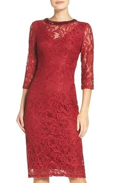 bd05f6a62cfb London Times Embellished Lace Sheath Dress available at  Nordstrom Abito  Impreziosito