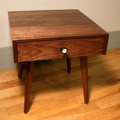 Walnut Side Table by Volk Furniture
