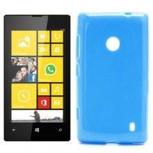 Capa Nokia Lumia 520 MiniGel Glossy Azul 4,99 €