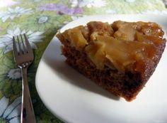 Gâteau renversé aux pommes et à l'érable à la mijoteuse. #recettes #mijoteuse #marathonmijoteuse