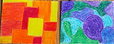 Fourth Grade Art Lesson 2   Elements of Art Part 1 Shape Color and Space