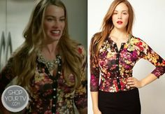 Gloria Prichett (Sofia Vergara) wears this floral print three quarter sleeve cardigan in this week's episode of Modern Family.