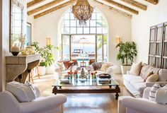 santa barbara style family rooms beams images | Santa barbara, Family rooms and Mantles on Pinterest