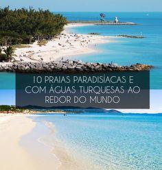 Parecem piscinas, mas são praias com água tão azul que são capazes de deixar qualquer pessoa de boca aberta. E não é só o Caribe que tem o privilégio de abrigar essas belezas naturais. Espalhadas por vários cantos do mundo, as praias com água azul turquesa parecem ter saído diretamente de uma pintura.