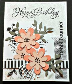 Stampmemories with Debbi: My Little Sister's Birthday Card. La Vie En Rose papers, Ink Blot & Springtime Wishes stamp set & CTMH Artistry Cricut Cartridge Flowers cut out on Charlotte papers.