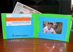 Duct Tape Wallet: Age 8 yrs and Up, Time=60+ Min May just have to make this a 2-session project, cuz it's so darn cool!!!