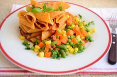 Reteta culinara Paste cu sos de rosii si legume mexicane din categoria Mancaruri de post. Cum sa faci Paste cu sos de rosii si legume mexicane Snack Recipes, Snacks, Cantaloupe, Chips, Fruit, Snack Mix Recipes, Appetizer Recipes, Appetizers, Potato Chip
