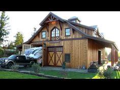 Barn Pros Timberframe Denali 60 -- Sandy, Oregon #BarnPros #BarnVideos