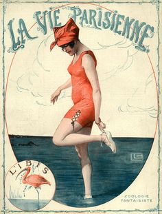"Some of the artists from this publication, Le Vie Parisienne, made some lovely (and some erotic) covers.  ""La Vie Parisienne, Georges Leonnec."""