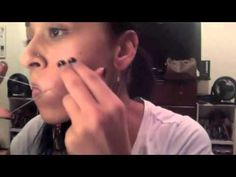 ▶ Upper lip hair removal by using thread - YouTube