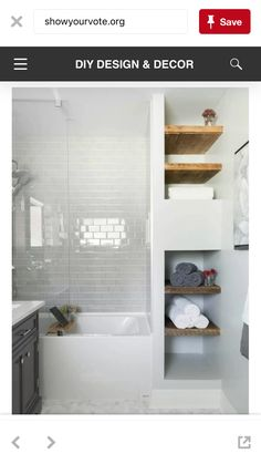 Master bathroom idea, for the niche next to the shower.