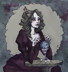 Witch and magic crystal ball by IrenHorrors on deviantART