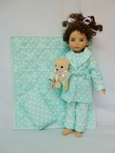 """Polka Dots n' Flowers Outfit for 13"""" Little Darling Effner by Apple"""