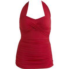 Suddenly Slim by Catalina - Women's Plus-Size Shirred One-Piece Swimsuit, $33 @ Walmart.com
