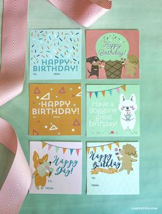 MichaelsMakers Lia Griffith provides Ice Cream Birthday Tags In Pink Palette
