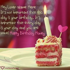 Happy Birthday Lover Quotes Images Name Generator