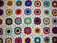 learn to crochet circles into squares | The Florida Crochet Garden: Connect As You Go Granny Circle to Squares
