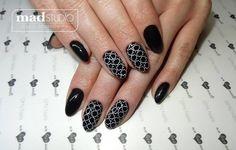 SPN Nails UV laQ Black Tulip, UV painting gel, ręcznie malowane zdobienie