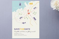 Destination Save the Date Cards by Unless Someone ... at Minted.com
