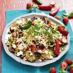 Biltong Nachos with Strawberry Avocado Salsa [ NYBiltong.com ] #biltong #recipe #flavor