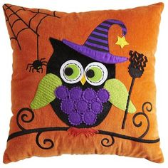 Pier 1 Owl Witch Pillow. This is too cute I have to get this!