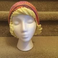 Crochet hat with hair. Would make great puppet hair!!!