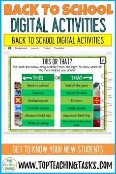 Get To Know You Activities, All About Me Activities, First Day Of School Activities, 1st Day Of School, School Resources, Middle School, Online Classroom, School Classroom, Flipped Classroom
