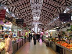 Mercado Central de Valencia en el interior.