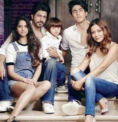 20 pictures of Shah Rukh Khan with wife Gauri Khan, and kids Aryan Khan, Suhana Khan, and AbRam Khan.