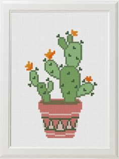 Cactus kruissteek Patroon PDF Moderne kruissteek Succulent Bloemen kruissteek - Lisa E. Cactus Cross Stitch, Simple Cross Stitch, Modern Cross Stitch, Cross Stitch Flowers, Cross Stitch Designs, Cross Stitch Patterns, Easy House Plants, Easy Cross, Cross Stitching