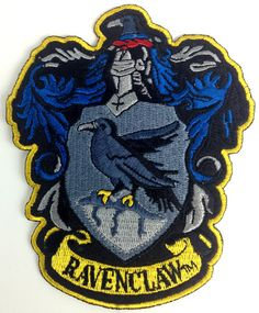 Harry potter house of ravenclaw crest logo large version embroidered patch. Harry Potter Cosplay, Harry Potter Outfits, Harry Potter Characters, Hermione Costume, Harry Potter Houses, Harry Potter Hogwarts, Ravenclaw, Potters House, Crest Logo