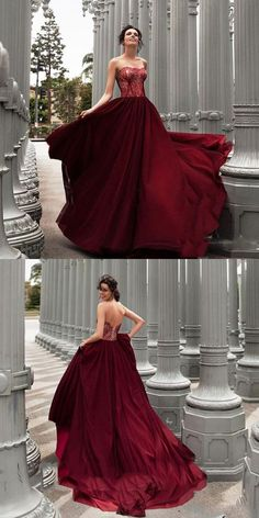 Burgundy Long Prom Evening Dress With Lace  promdresses  longpromdresses   burgundypromdresses  charmingpromdresses ed5de2f78fb0
