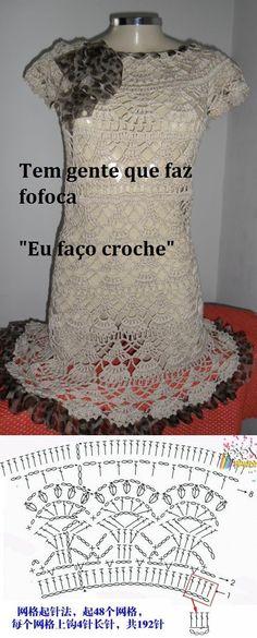 No link http://vyazaniekryuchkom.com/vjazanie-krjuchkom/5666-vjazhem-krjuchkom-detskij-letnij-komplekt-master.html há um modelo de saia e blusinha para crianças, com o mesmo gráfico. Ótima inspiração.
