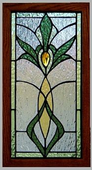 Traditional Stained Glass Panel #21