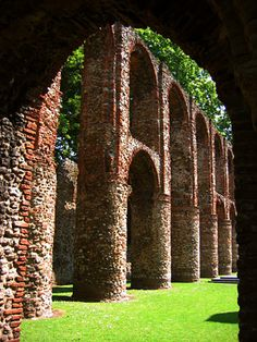 These are the remains of St Botolph's Priory, about 3 minutes' walk from Colchester Town railway station. It dates to the 12th Century and is the first Augustinian church in England.  Visit www.exploreuktravel.co.uk for holidays in England