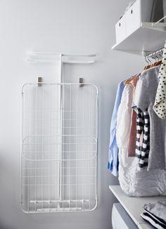 Easy and organised laundry routines - IKEA Bathroom Inspiration, Ikea Algot, Ikea Laundry, Laundry Room Cabinets, Bathroom Furniture, Ikea, Laundy Room, Ikea Laundry Room, Wardrobe Rack