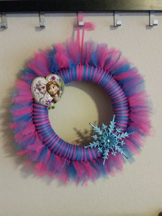 Hey, I found this really awesome Etsy listing at https://www.etsy.com/listing/210163255/disney-frozen-tulle-wreath-with