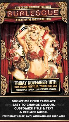 GraphicRiver Burlesque Flyer Template http://www.webtempo.ch