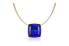 Cynthia Renee Bespoke 45 carat, custom-cut Tanzanite pendant.
