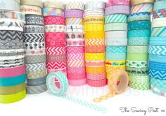 Pick 15 Whole Rolls of Assorted Washi Tapes: 159 Patterns