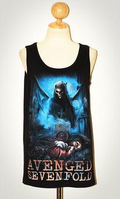 Avenged Sevenfold Forever Nightmare Black Singlet Tank Top Sleeveless  Black T-Shirt - needneedneedneed