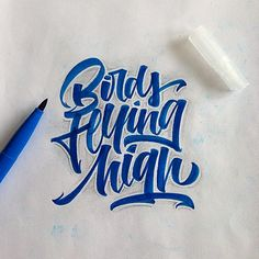Brushpen Lettering Set 7 by David Milan