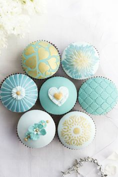A Baby Boy Baby Shower Must-Have - Baby blue cupcakes!