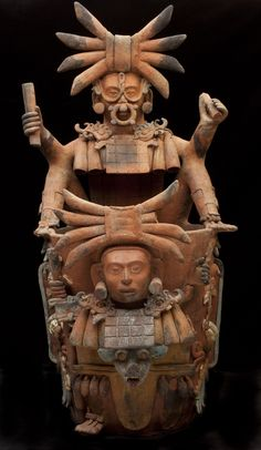 """virtual-artifacts: """" Incense burner stand depicting the Jaguar God of the Underworld On his nightly journey through the Underworld, the Sun God, K'inish Ajaw, transforms into the Jaguar God of the Underworld. His daily trip to the Underworld mirrored. Arte Tribal, Aztec Art, Colombian Art, Aztec Culture, Inka, Art Premier, Mesoamerican, Mexican Art, Ancient Civilizations"""